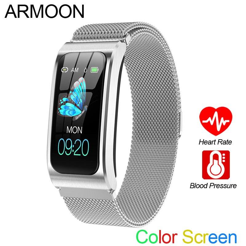 Bracelet intelligent AK12 hommes femmes fréquence cardiaque bande sommeil moniteur tension artérielle Fitness Tracker étanche couleur écran sport montre
