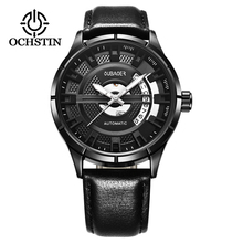 Horloge Men's Automatic Mechanical Waterproof Watch Wristwatch Men Fashion Leather Strap Watches Montre Homme Business Horology ks automatic watch silver white black leather strap date month mechanical men business brand heren horloge wrist watches ks285