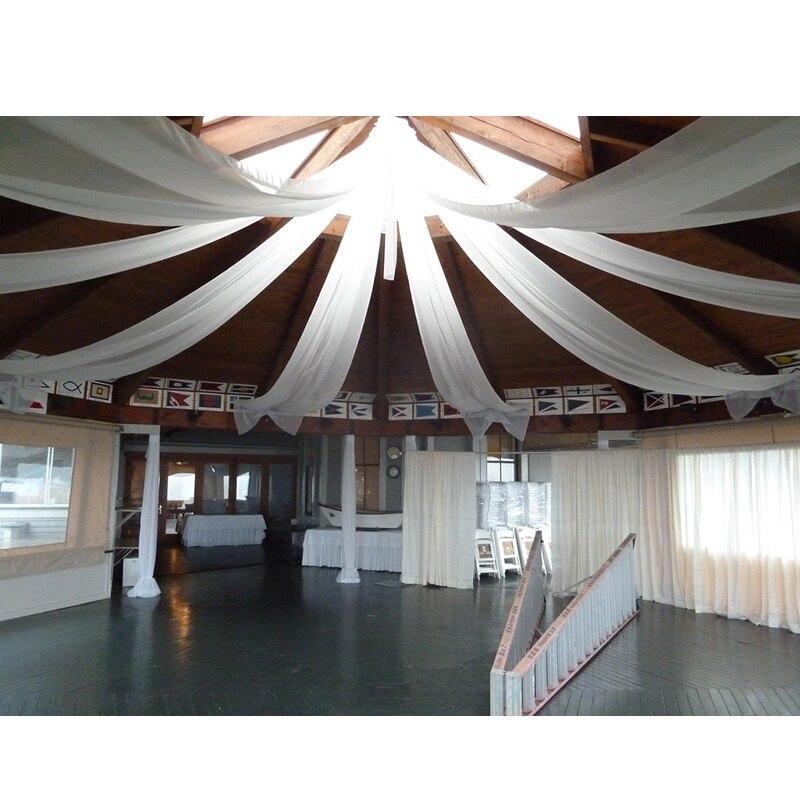 2ftx32ft ślubne pojedyncze sufitowe draperia party decor ślub sufitowe baldachim dekoracje pomysł event hotel dekoracji w Tła imprezowe od Dom i ogród na  Grupa 2