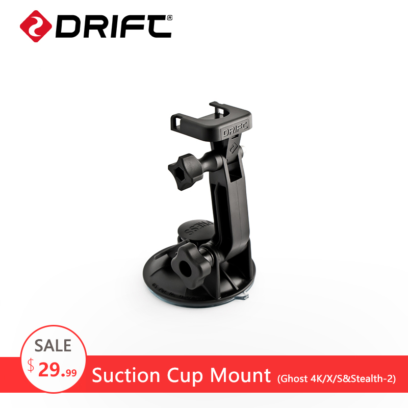 DRIFT Suction Cup Mount for Ghost 4K/X/S Stealth-2 Accessories Gopro hero 5 4 Mount kit SJCAM yi eken Action Camera Mount