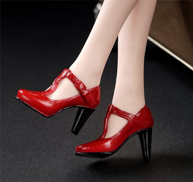 3 Colors 1/6 Female High-Heel Shoes Model without feet Red/Black/Grey for HT PH Body Figures top quality new sex product soft feet fetish toys for man lifelike female feet mannequin fake feet model for sock show ft 3600 1