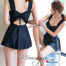 цена на Plus Size One Piece Swimsuit Women Swimwear Solid Monokini Maillot De Bain Femme Bodysuit Female Bathing Suit Black