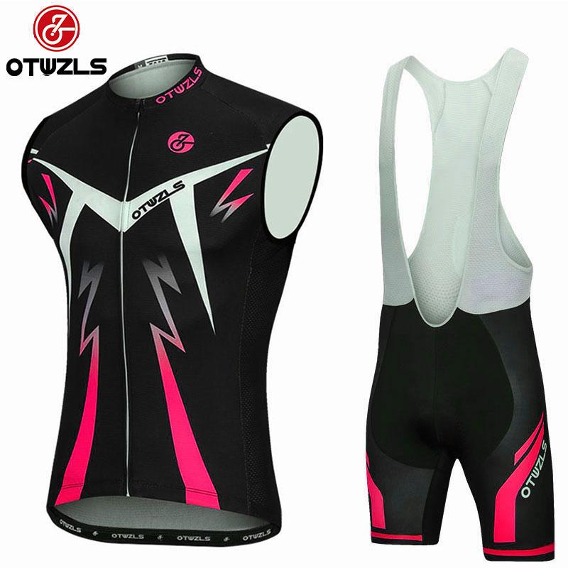 2018 Cycling Bib Set Coolmax Pad Bike Bib Tights Mtb Ropa Ciclismo Cycling Jersey Vest Sets Sleeveless Cycling Clothing Pro Team