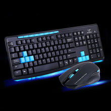 hot deal buy new 2.4g wireless gaming keyboard + mouse set combo for desktops laptops pc  xxm