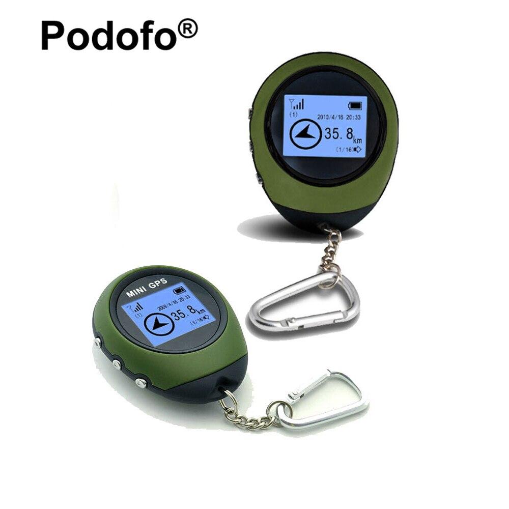 Podofo мини GPS Tracker приемник ручной Расположение Finder USB Перезаряжаемые с электронным Компасы для наружного практичные
