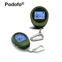 Podofo Mini GPS Tracker Receiver Handheld Location Finder USB Rechargeable with Electronic Compass for Outdoor Practical Travel