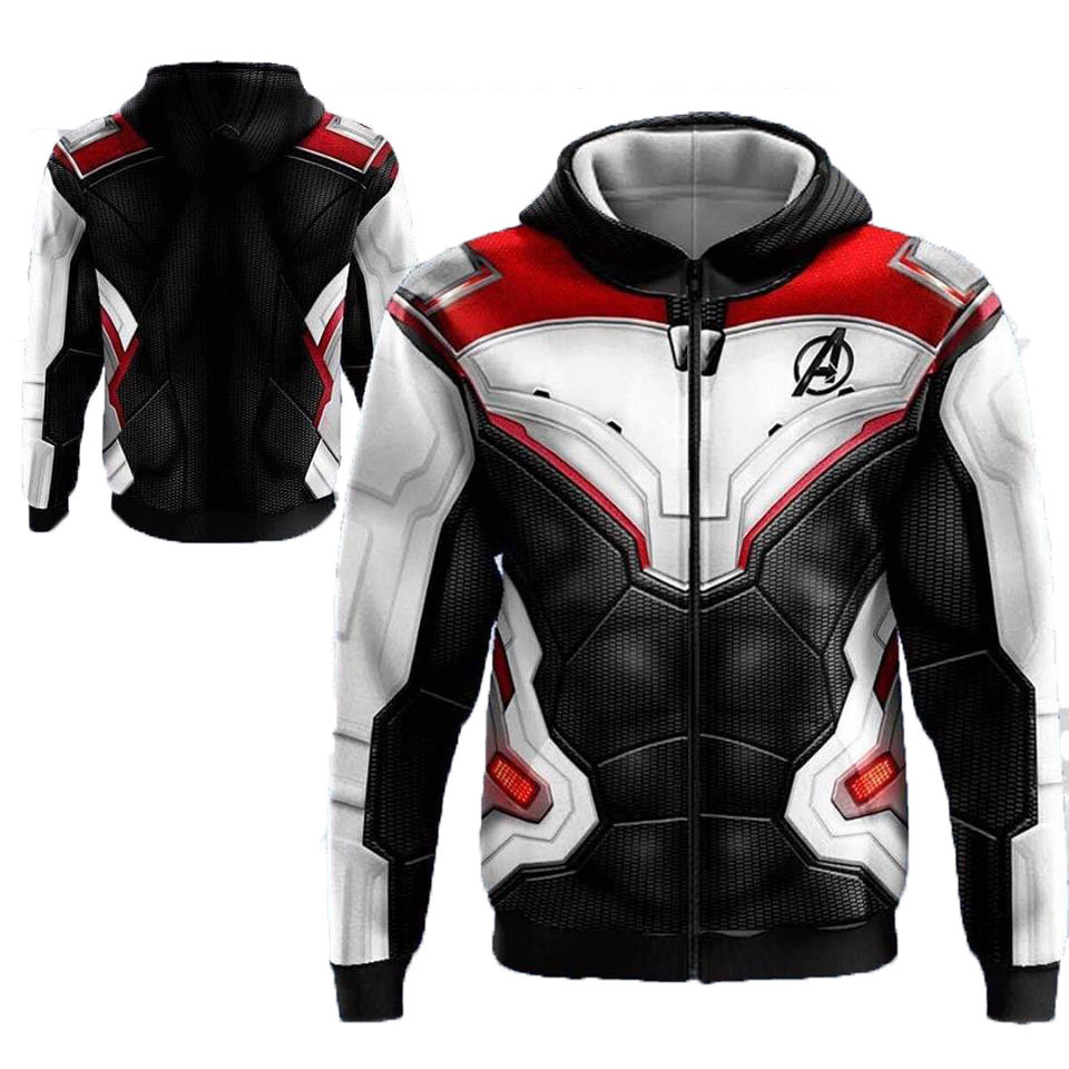 2019 Marvel Heroes Movie Jacket Avengers Endgame 3D Zipper Hoodies Men Sweatshirt  Hip Hop Hoody Hot Outerwear Drop Shipping