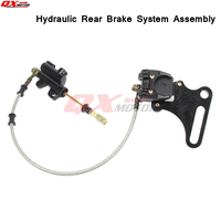 500mm Long Hydraulic Rear Brake System Assembly KAYO BSE Dirt Bike Pit Bike Master Cylinder Caliper hose
