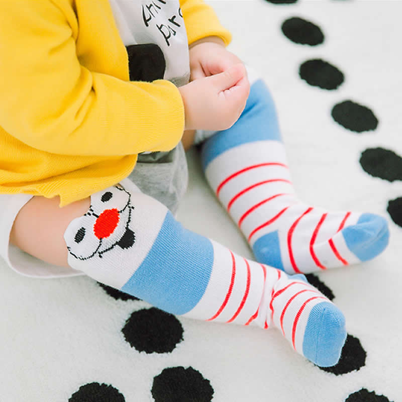 Baby Socks Spring three-dimensional Cartoon Stripes Cotton Tube Socks Gentleman Cartoon Knee High Leg Warms Socks