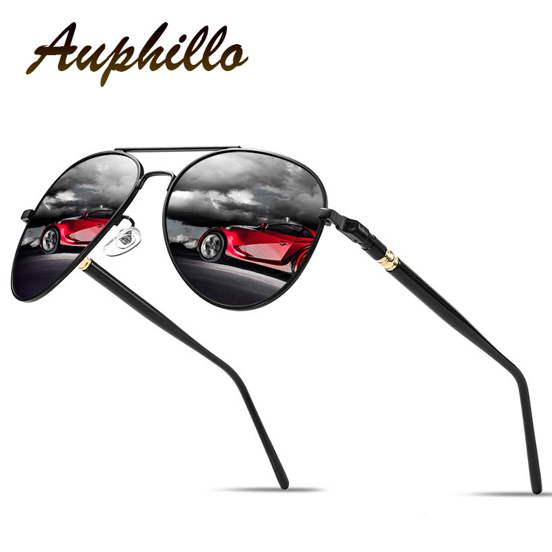 Polarized Sunglasses Men Luxury Brand Retro Metal Alloy Aviation Driving Glasses Eyewear Accessories