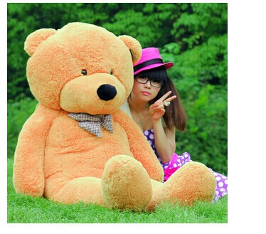 цена на Stuffed animal largest 200cm light brown Teddy bear plush toy soft doll throw pillow gift w1676