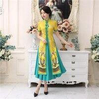 Shanghai Story Vietnam Aodai Chinese Traditional Clothing For Woman Qipao Long Chinese Oriental Dress Modern Cheongsam