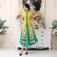 Shanghai Story Vietnam aodai Chinese traditional Clothing For Woman Qipao long Chinese Oriental dress modern cheongsam ao dai