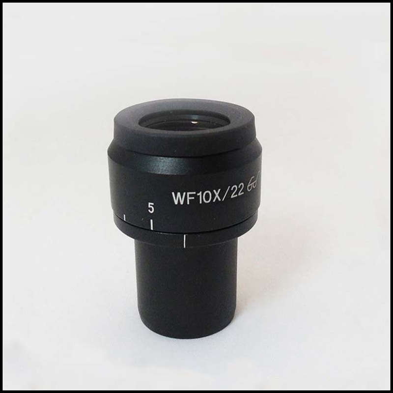 ФОТО 2PCS WF10X/22mm Zoom Adjustable High Eyepoint Wide Angle Biological Microscope Eyepiece Lens 23.2mm