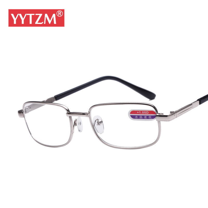 Kacamata Baca Pria YYTZM Alloy frame dan Lensa kaca Tahan Lama HD diopter  kacamata Wanita oculos e85d673a84