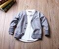 3-7 Yrs Crianças jaquetas 2016 outono Meninos e Meninas Casacos de Lã camisola manga comprida terry meninos jaquetas Crianças Outerwear