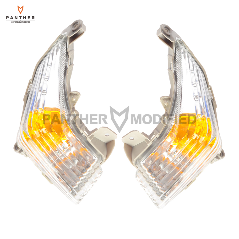 Clear Lens Motorcycle Front Turn Signals Indicator Light Blinker Cover Case for Suzuki GSR 400 600 GSR400 GSR600 2006-2012 motor front turn signals lens for suzuki 1997 2007 1998 99 2000 01 02 03 04 05 2006 katana 600 750 gsx 600f 750f clear