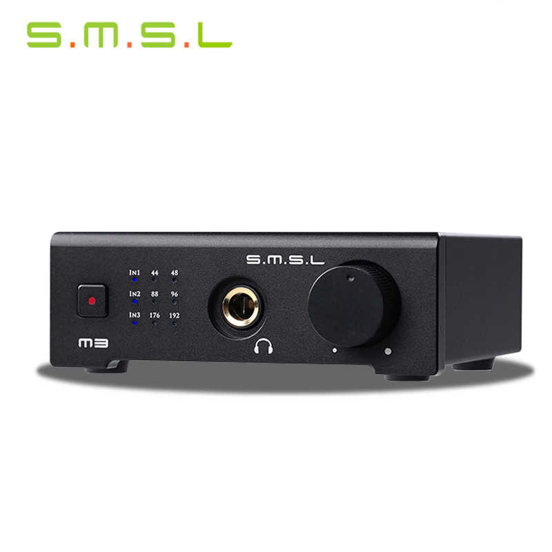 SMSL M3 USB HD Audio Decoder Antarmuka HI FI Exquis 24bit/192 KHz DAC dengan Optical Coaxial Headphone Output Analog