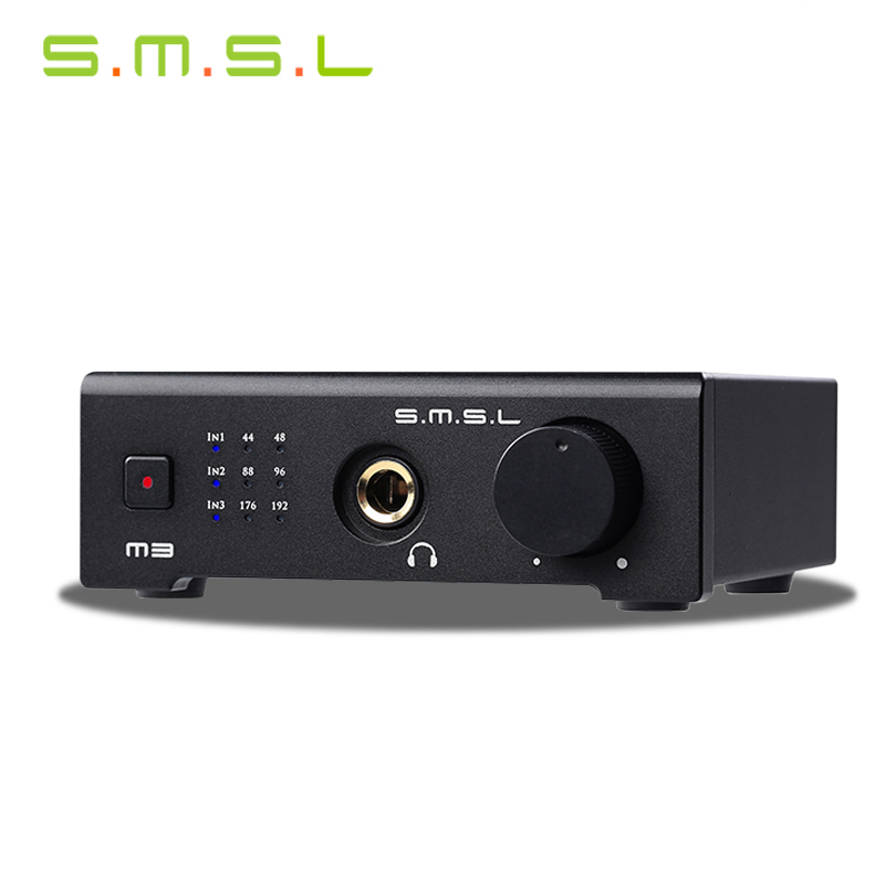 SMSL M3 USB HD Audio Decoder Interface Hifi Exquis 24bit/192kHz Dac With Optical Coaxial Headphone Analog Outputs smal a6 hifi digital amplifier 50wx2 dac digital 110v 220v native dsd512 usb optical coaxial lp player cd analog input