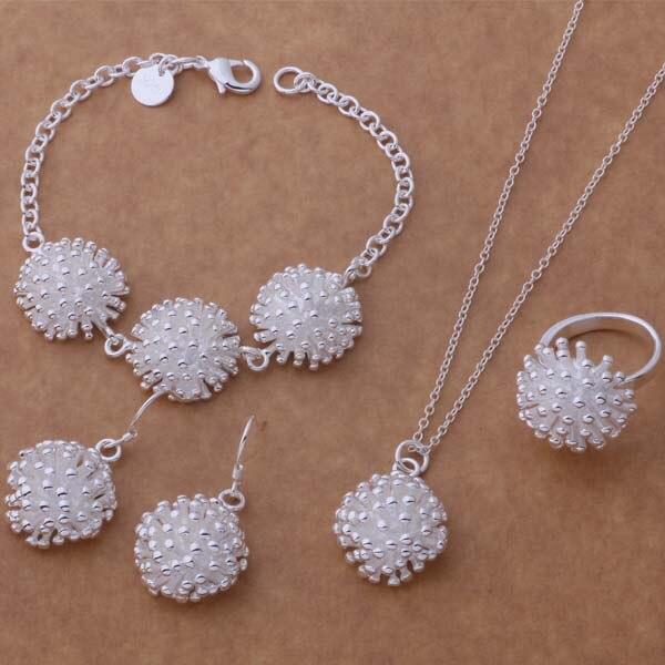 AS319 Hot 925 sterling silver Jewelry Sets Bracelet 081 + Necklace 692 + Earring 356 + Ring 184 /ampajdwa atcajkja boxpop lb 081 35