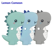 Lemon Comeon Silicone Teether Stegosaurus Baby Teething Necklace Toy BPA Free Nursing Accessories Product For Newborns 1PC