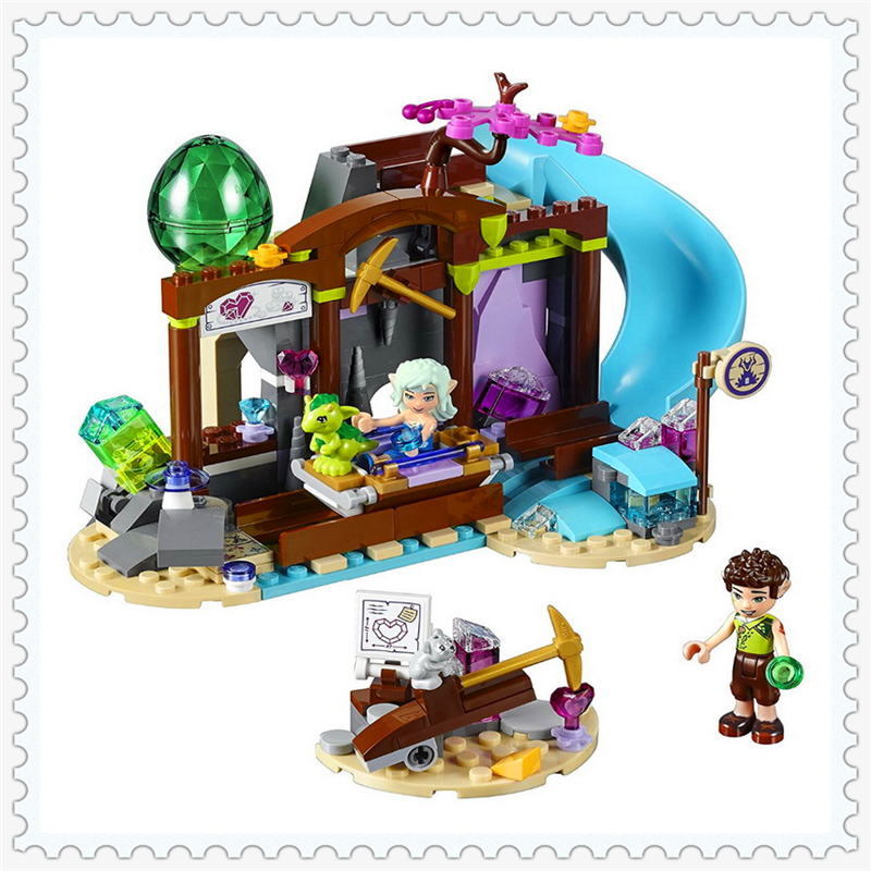 BELA 10548 Elves Series The Precious Crystal Mine Building Block 279Pcs Educational  Toys For Children Compatible Legoe 10548 elves the precious crystal mine building block set naida farran figures baby dragon toys for children compatible 41177