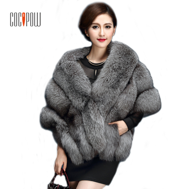 9dc2b811b62b 2017 Latest Winter Pink Faux Fur Coat luxury fox fur imitation mink fur  poncho shawl cape women fur coat black  white