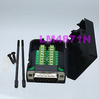 DB15 DSUB 2 Row Plug 3 9pin Terminal Breakout PCB Connector COVER HOOD Screw