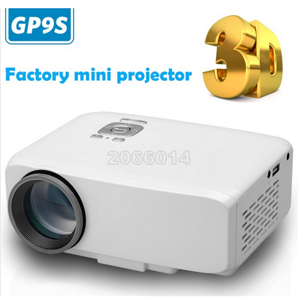 Optional Classic with DVB-T/ ATSC LED Projector LED TV Tuner Free HDMI Cable 3D Glasses GP9S projector SD reader