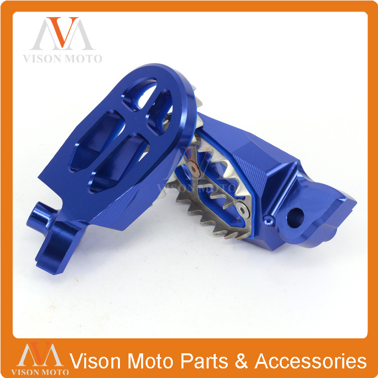 Yamaha YZ80 YZ125 YZ250 YZ500 WR200 WR250 WR500 87-05 For Honda XR350-500 83-84 Billet MX Wide Foot Pegs Pedals Rests