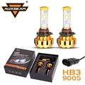 Auxbeam Cree LED Salta 9005/HB3 Bombillas de Los Faros Del Coche 60 W/pair Refitment Oro De Lujo de Aluminio de Calidad Aeronáutica para SUV HB3 Fog Lamps