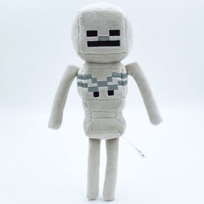 New 2016 Minecraft Toys mini 24cm Minecraft Skeleton Plush Stuffed big size 36cm Toys Movie Toys