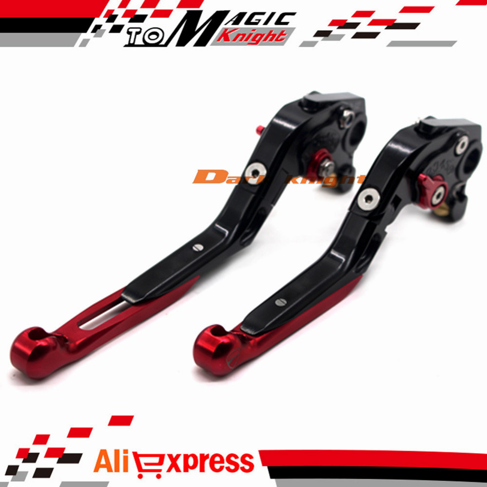 ФОТО For DUCATI MONSTER 400 695 620/MTS S/S2R 800 Motorcycle CNC Billet Aluminum Folding Extendable Brake Clutch Levers Black+Red