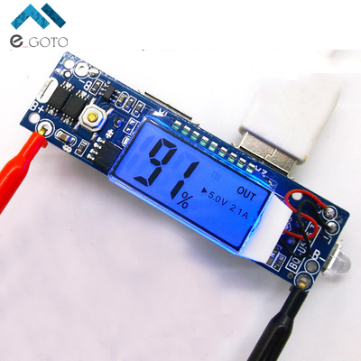 5V 2 1A 1A 2A Mobile Power Bank Charger Module LCD Display 18650 Lithium Battery Charging