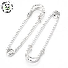 Iron Kilt Pins Platinum Color 70mm long 18mm wide 6mm thick hole about 6mm