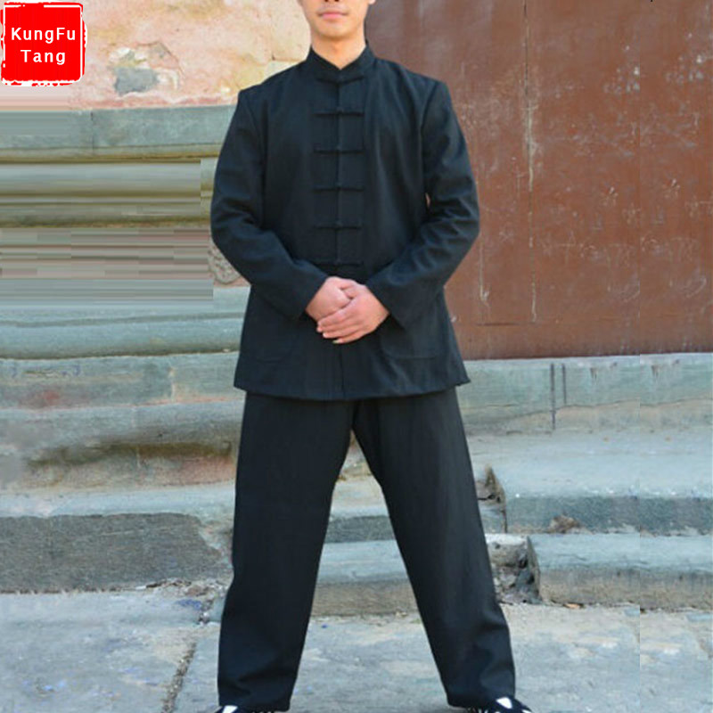 High Quality Kung Fu Uniforms thick Linen Martial Arts Suit Adult kids Tai Chi clothes Wushu Taiji Wudang Clothing Top+pants Set high quality tai chi clothing kung fu uniform martial arts wushu clothes taiji sword suit for women girl kids children customize