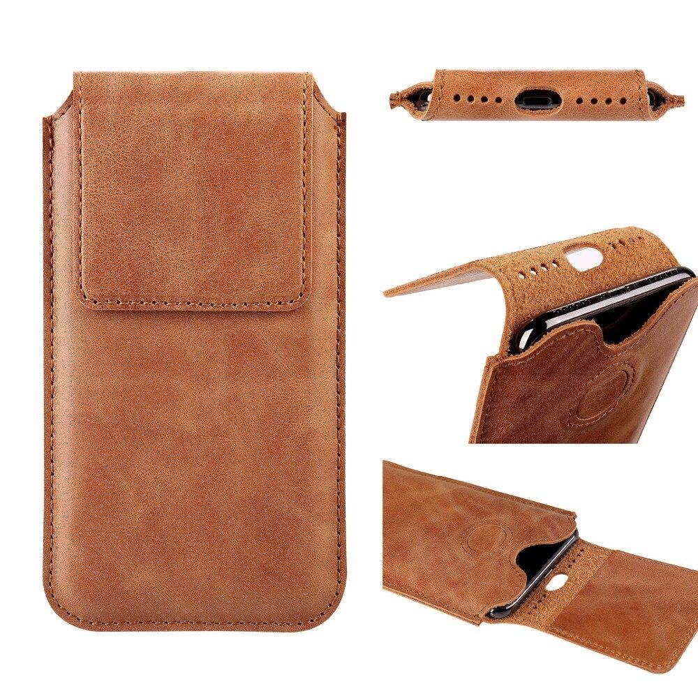Jisoncase сумка для мобильного телефона iPhone X из натуральной кожи телефон Pounch коричневый Винтаж защиты оболочки Капа Para 5,8 дюйма Fundas ...
