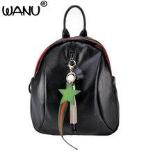 Wanu Пояса из натуральной кожи Для женщин Сумки Водонепроницаемый овчины Высокое качество женский рюкзак для девочек школьная сумка дорожная Мужская тотализаторов подарок для жены