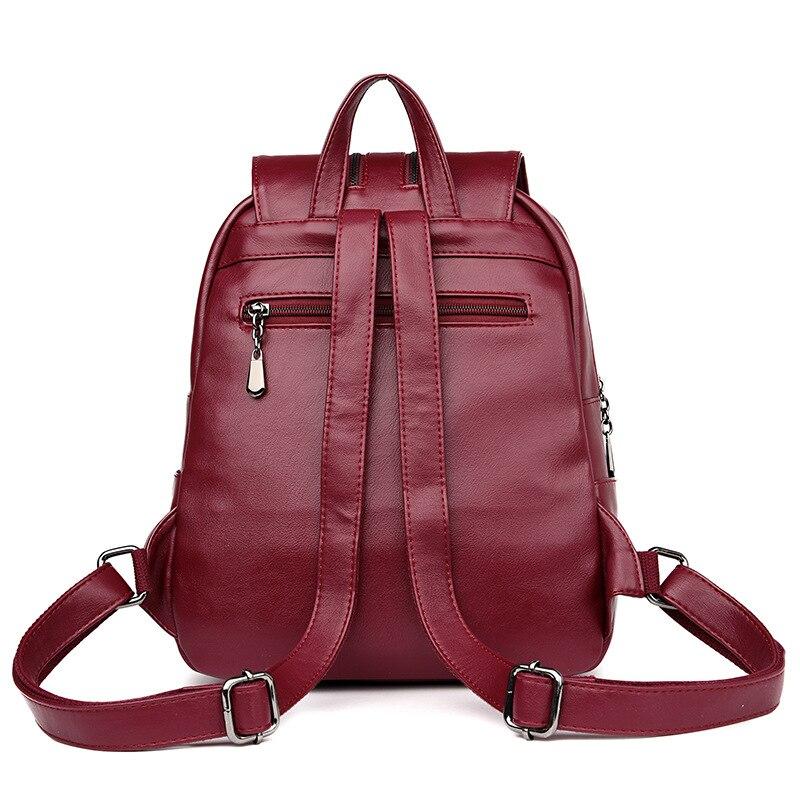Brand New Laptop Backpack Women Leather Luxury Backpack Women Fashion Backpack Satchel School Bag Pu #4
