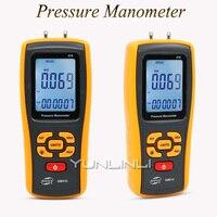 Digital Differential Pressure Gauge Portable Air Pressure Meter Manometer Filter Resistance Gas Pressure Detector GM510