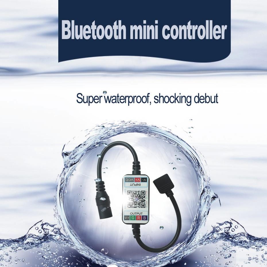 RGB Led Controller For Led Strip Bluetooth Controller Music RGB Controller DC 5V 12V 24V APP Remote Controller For LED Lighting  (4)