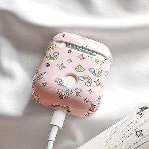 Image 5 - Mignon licorne étoiles étui pour écouteurs pour airpods étui Bluetooth sans fil casque accessoires housse de protection pour airpods 2 étui