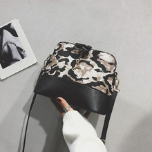 Fashion Style Women Leopard Print Crossbody Bag Fawn Pendant Shell Shoulder Bag Messenger Bag Bolsos Mujer #YL5