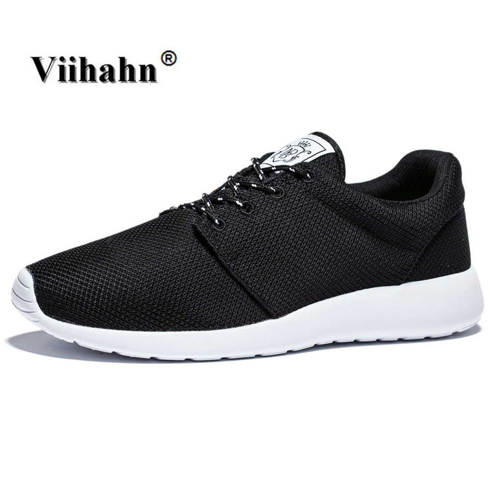 2017 Nuevos Hombres Zapatos Casuales de Verano Ligero Transpirable Air Mesh Negr