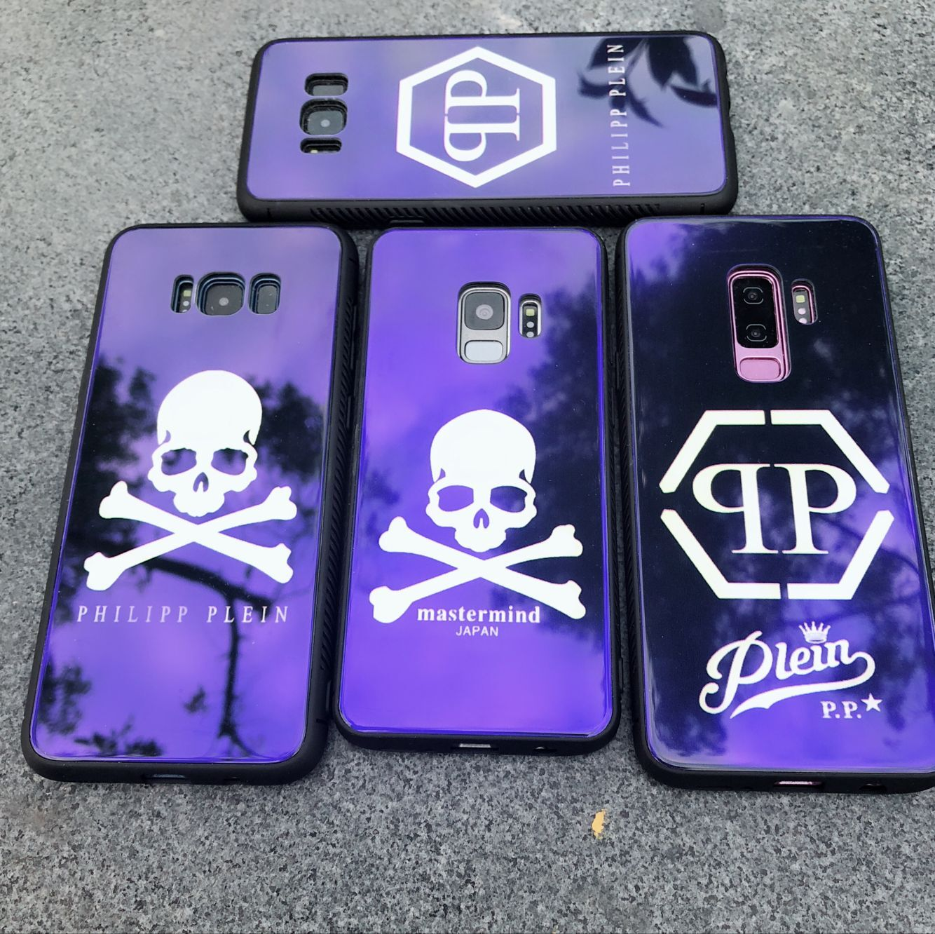 f1083d76e8 Blue Light PHILIPP PLEIN Tempered Glass phone Cases for Samsung Galaxy S8  S9 Plus Note 8