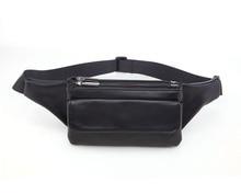 Men Women Waist Bag Fashion PU Leather Belt Bag Fanny Pack Hip Bum Bag for Men Zipper Cell Phone Purse