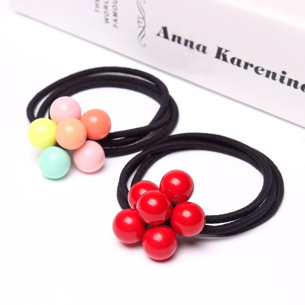 Women Hair Accessories Pearls Beads Headbands Ponytail Holder Girls Scrunchies Vintage Elastic Hair Bands Hair Styling Tools