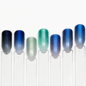 Image 5 - 1 Bottle Glitter Nail Powder Dust Blooming Nail Art Design Mermaid Shimmer Blue Color Decor Dipping Pigment Manicure LABJ