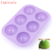 New Silicone Half Ball Sphere Mold Chocolate Cupcake Cake Mold DIY Baking Decorative Cake Mould Tool