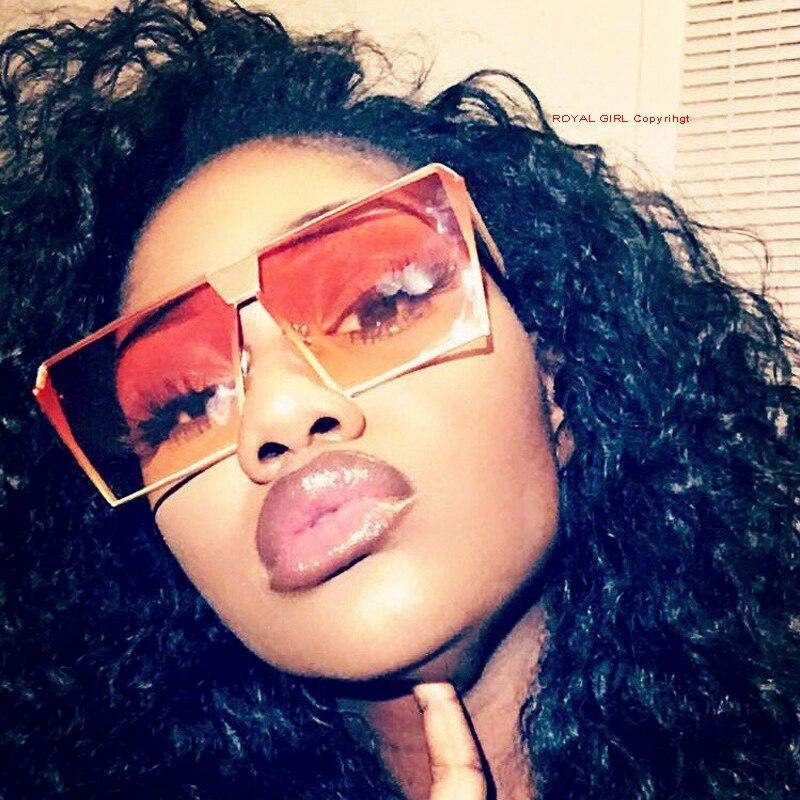 Royal girl 2017 new цвет женщины солнцезащитные очки уникальный негабаритных щит uv400 градиент старинные очки кадров для женщин # ss953